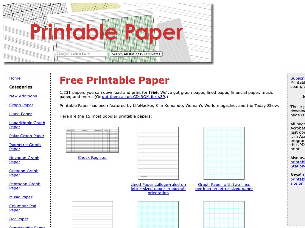 photo about Printable Columnar Paper named Printable Paper - MathsLinks