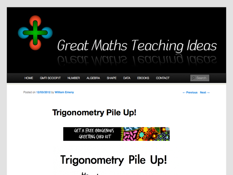 Trigonometry pile up - MathsLinks