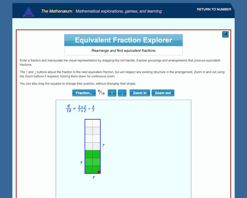 Equivalent Fraction Explorer